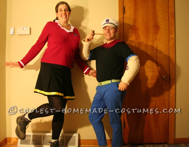 Coolest Popeye and Olive Oyl Costumes