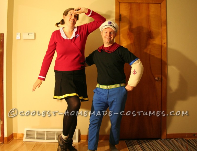 Coolest Popeye and Olive Oyl Costumes - 6