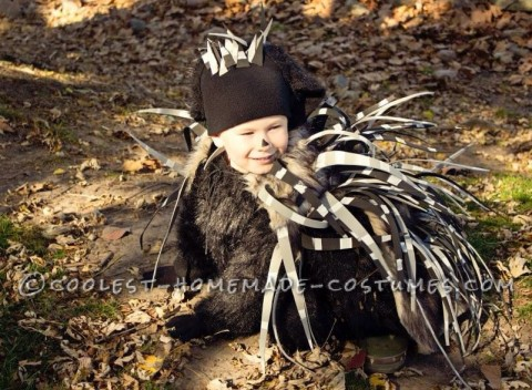 Cool Porcupine Costume That's Safe for Kids