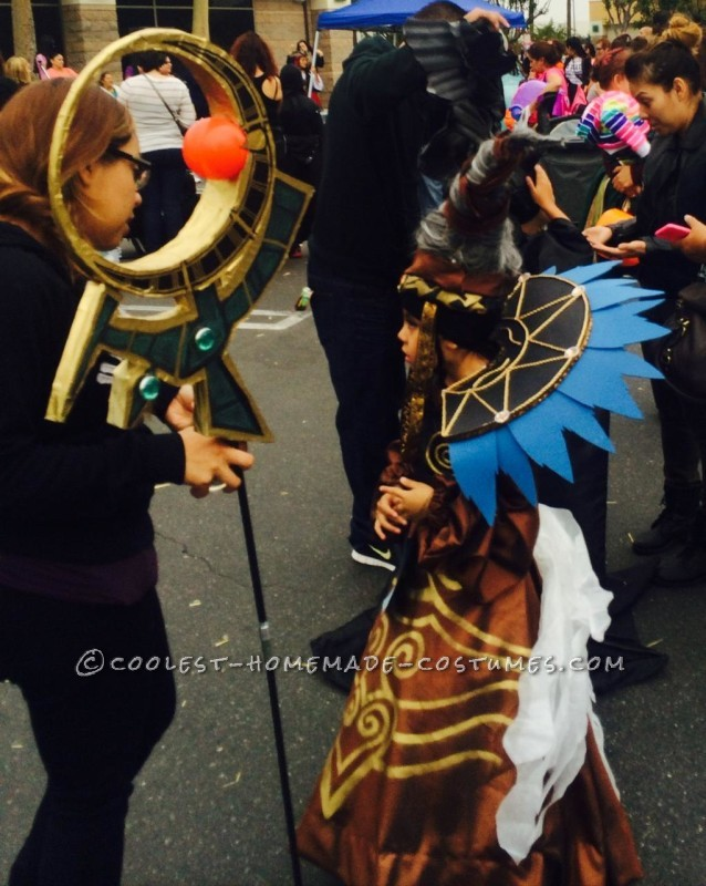 Power Rangers Villian Rita Repulsa Costume for a Girl - 3
