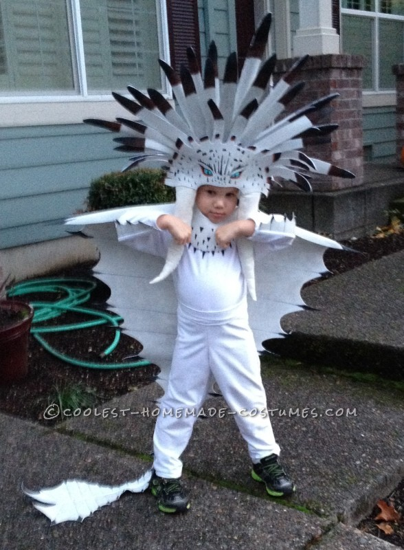 Preschooler's Detailed Homemade Boss Dragon Costume