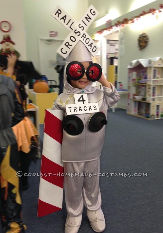 RR Crossing Gate Man getting ready for preschool party