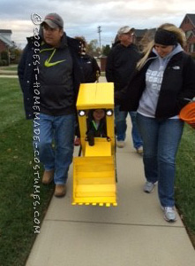 Super Cool Backhoe Costume for a 3-year-Old (Load On the Treats!) - 4