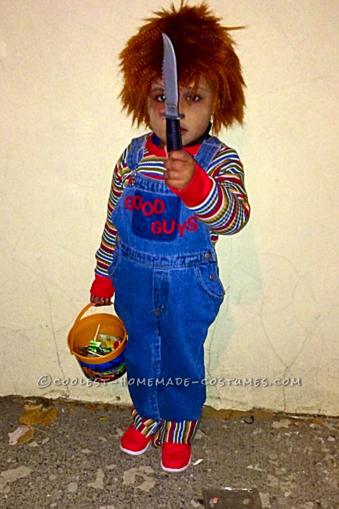 Cool Chucky Homemade Toddler Costume