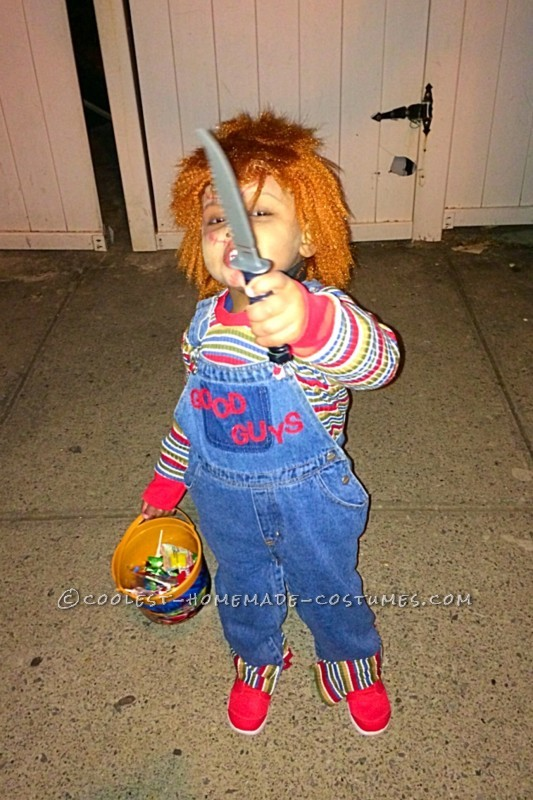 Cool Chucky Homemade Toddler Costume - 2
