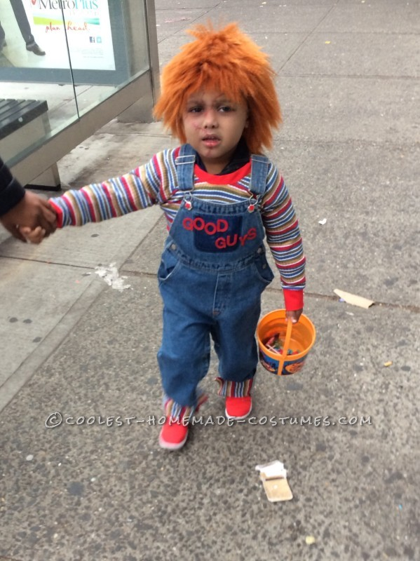 Cool Chucky Homemade Toddler Costume - 1