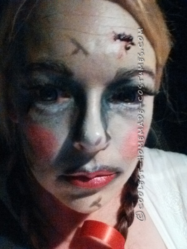 Homemade Creepy Annabelle Costume - 6