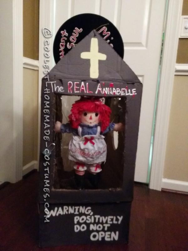 Homemade Creepy Annabelle Costume
