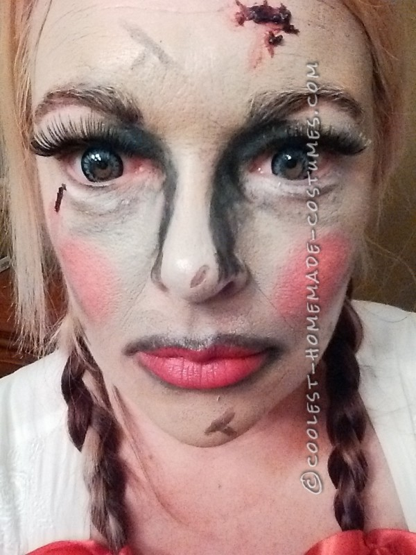Homemade Creepy Annabelle Costume - 1