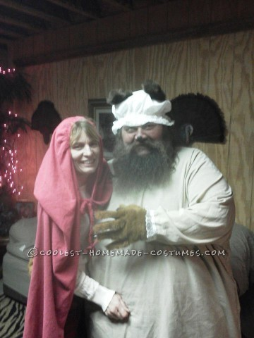 Cool Red Riding Hood and BIG Bad Wolf Couple Costume