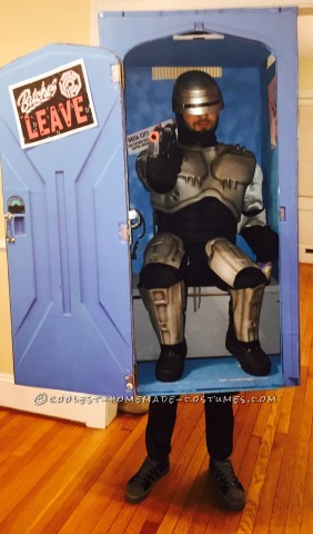 Super Original and Funny RoboCop in a Porta-Potty Costume