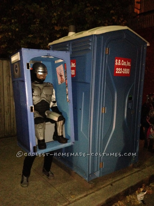Super Original And Funny Robocop In A Porta Potty Costume