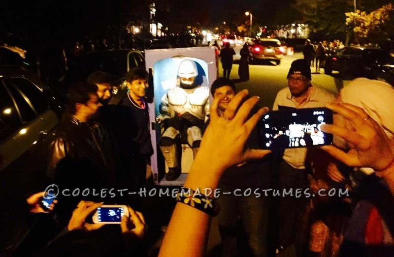 Super Original and Funny RoboCop in a Porta-Potty Costume