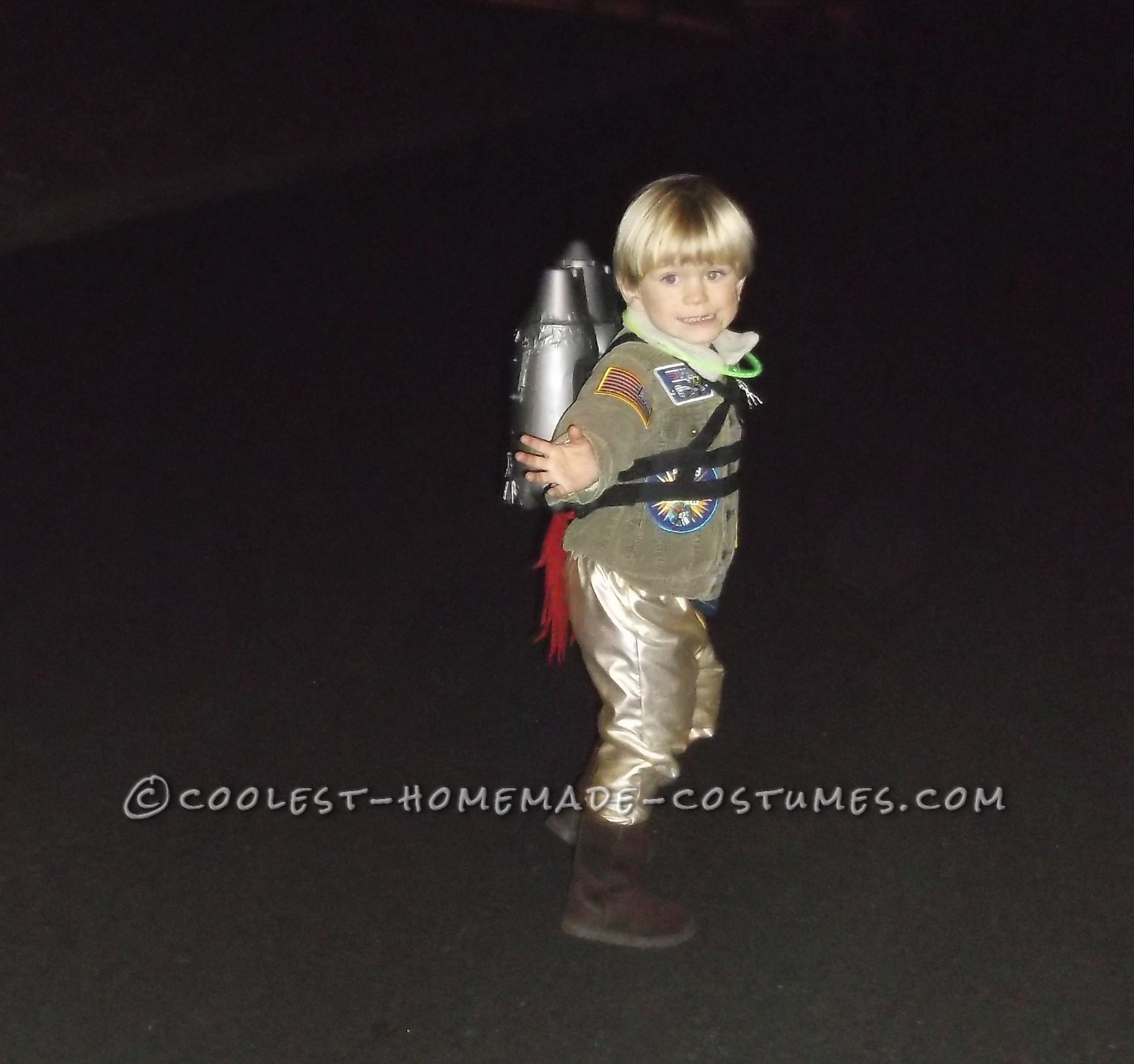 Cool DIY Rocket Man Costume for 3-Year-Old Boy