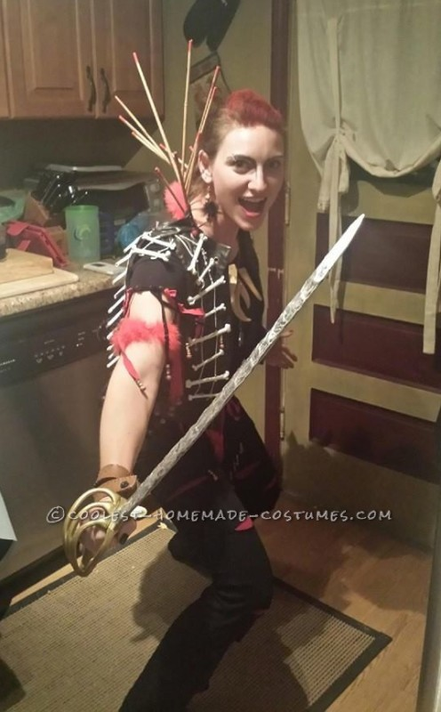 Homemade the Lost Boys Rufio Costume for a Woman - 2