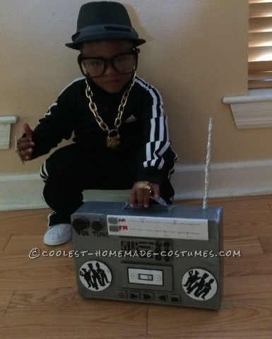 Original Homemade 2-Year-Old Run DMC Costume