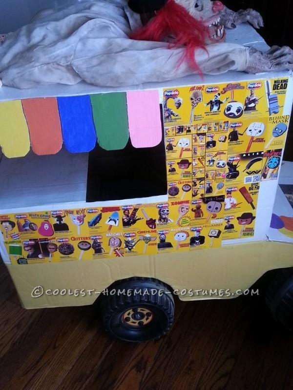 Scariest I-Scream Truck with Crazy Clown Kid Costume