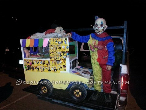 Scariest I-Scream Truck with Crazy Clown Kid Costume