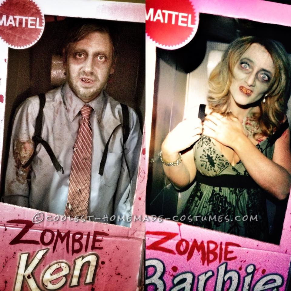 Scariest Zombie Ken and Zombie Barbie Couple Costume