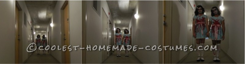 Homemade Scary Shining Sisters Couple Costume