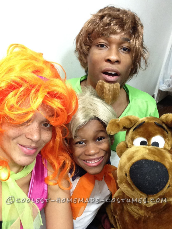 The family as Scooby Doo and the Gang