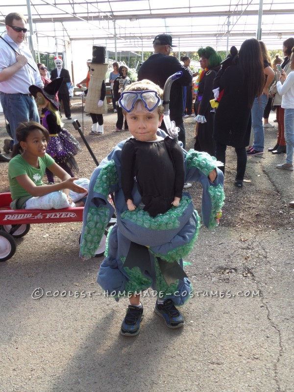 Scuba Diver Caught by an Octopus Illusion Costume - 1