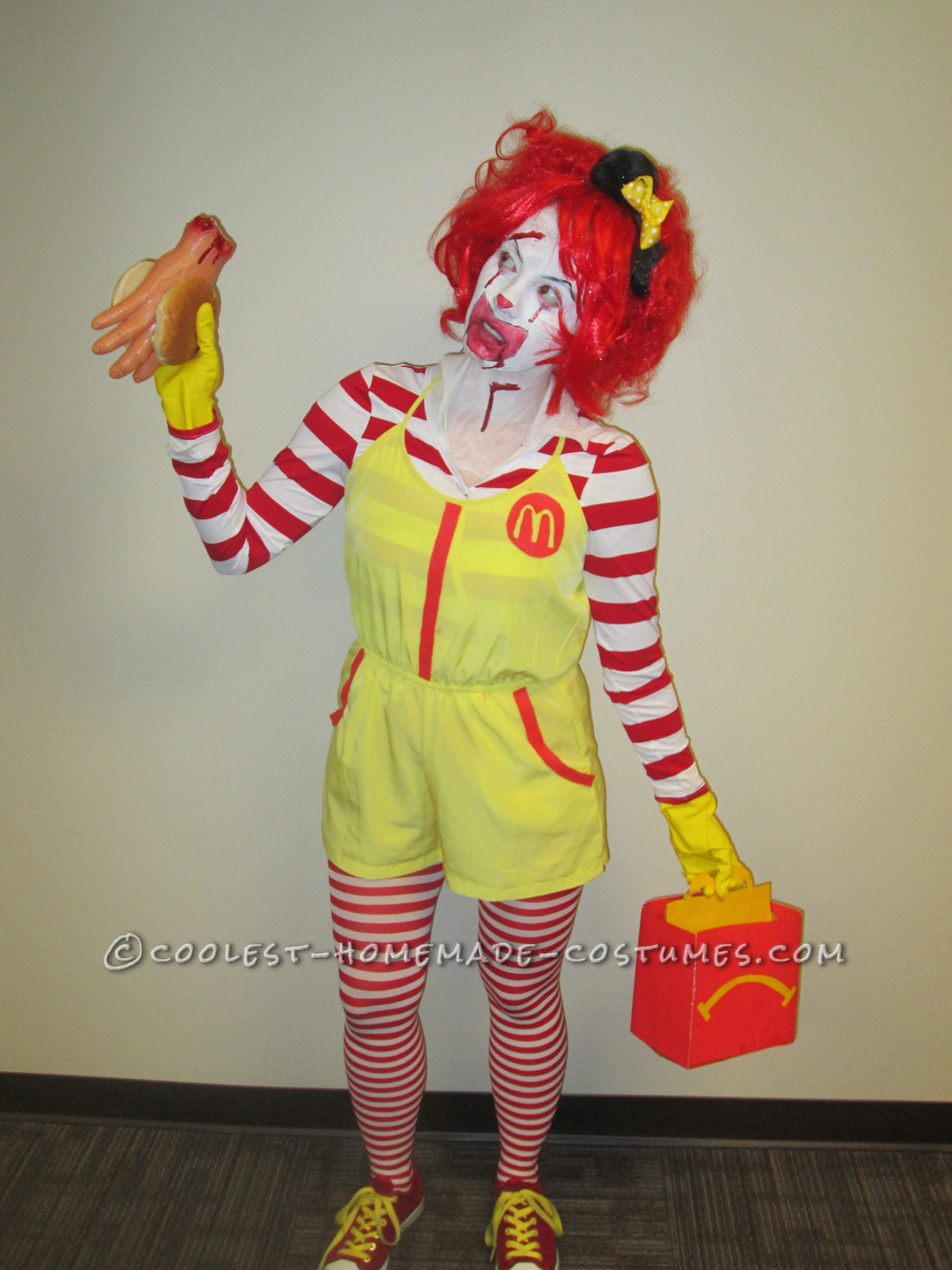 Super Creepy Serial Killer Ronald McDonald Costume