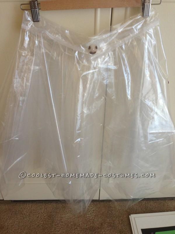 Shower curtain skirt