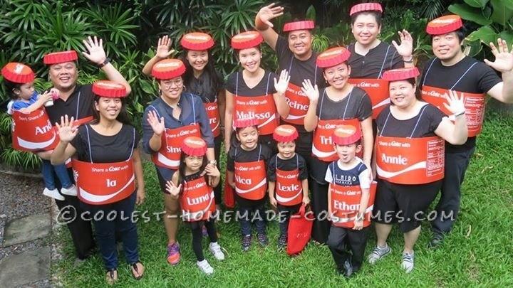 Awesome Group Costume Idea: #ShareACoke