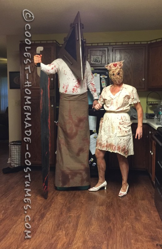 Silent Hill Pyramid Head and Faceless Nurse Costumes