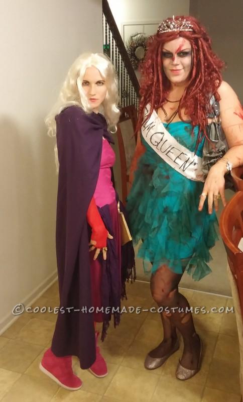 Striking a pose with my zombie friend!