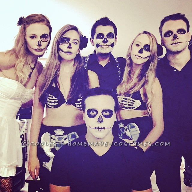 Last Minute Skeleton Gang Group Costume