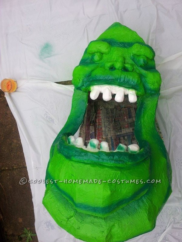 Homemade Slimer From Ghostbusters Costume - 6