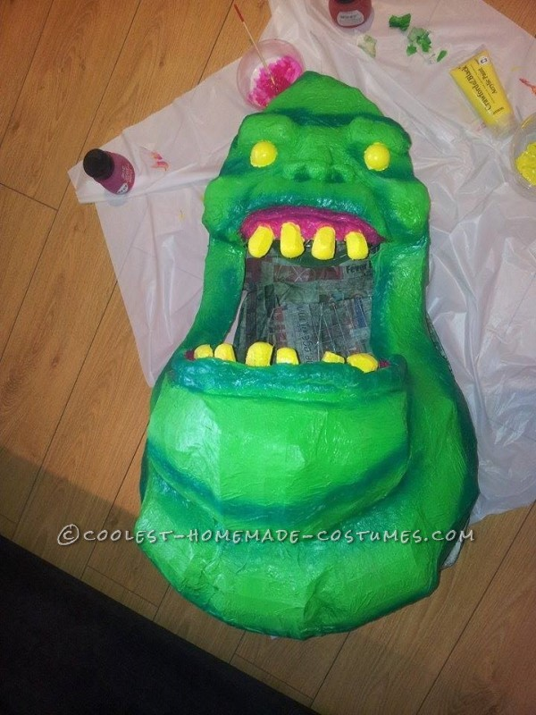 Homemade Slimer From Ghostbusters Costume - 7