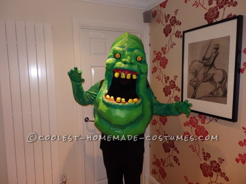 Homemade Slimer From Ghostbusters Costume - 8