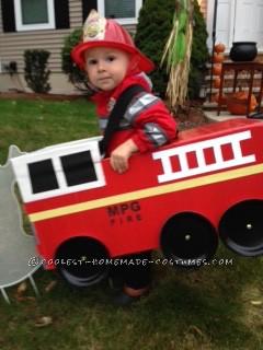 fireman in fire truck