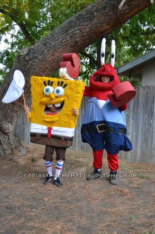 Cool DIY Spongebob Crew Group Costume