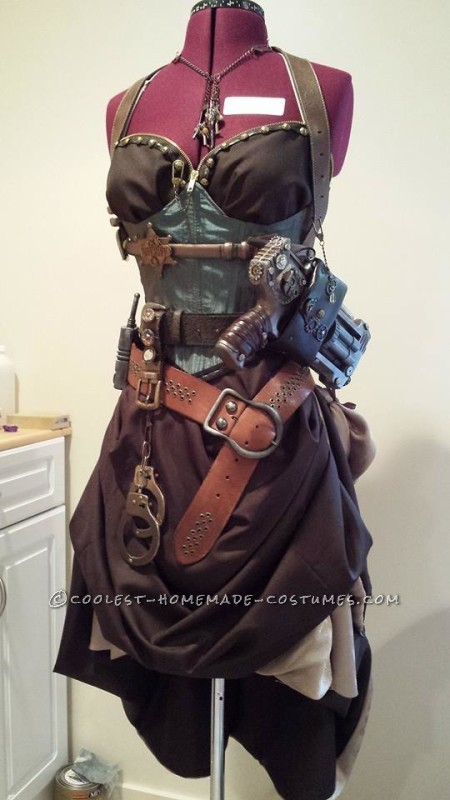 Sexy Steampunk Sheriff Costume - 2