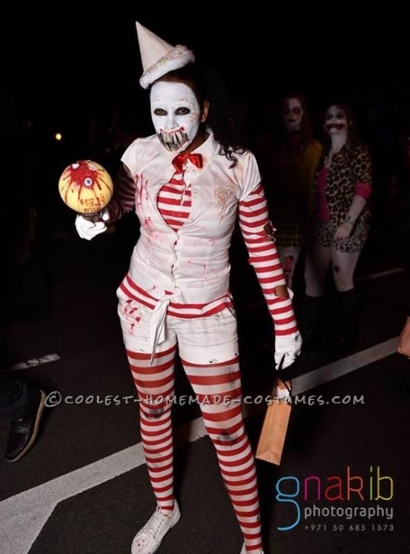 Creepy Zombie Ice Cream Man Costume for a Woman