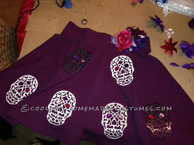 Homemade Sugar Skull Dia De Los Muertos Costume - 5