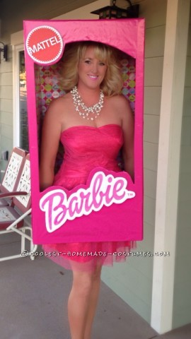 Super Fun Barbie in a Box Costume for Women and Girls