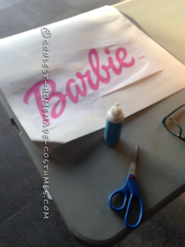 Printed Barbie Logo