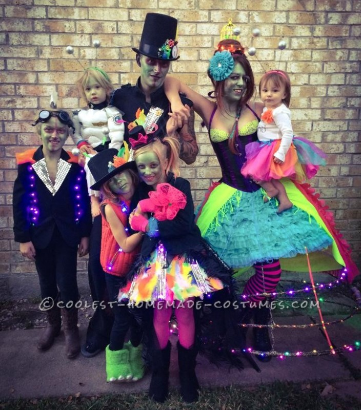 Coolest Family Costume Tales of a Steampunk Alien Invasion