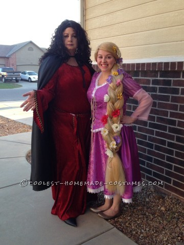 Tangled Rapunzel and Mother Gothel Couple Costume