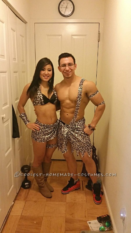 Bodybuilder Tarzan and Jane Couple Costume - 3