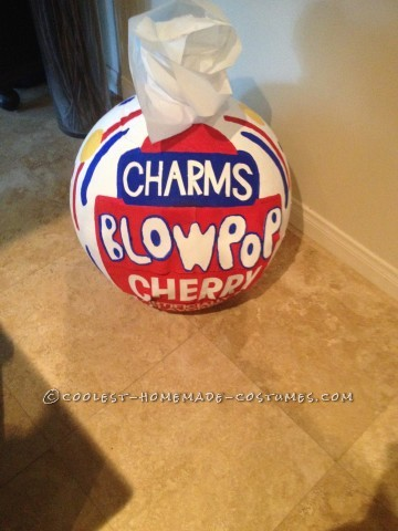 Coolest Homemade Charms Blow Pop Costume