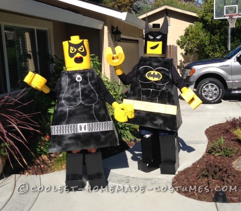 Homemade Batman Lego Couple Costume