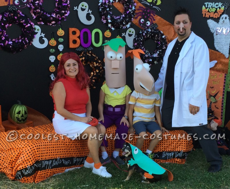 The Cast of Phineas and Ferb Family Costume
