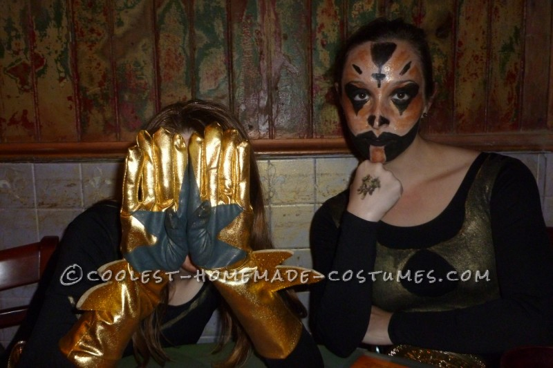 Stardust Gloves with Goldust sitting next to me