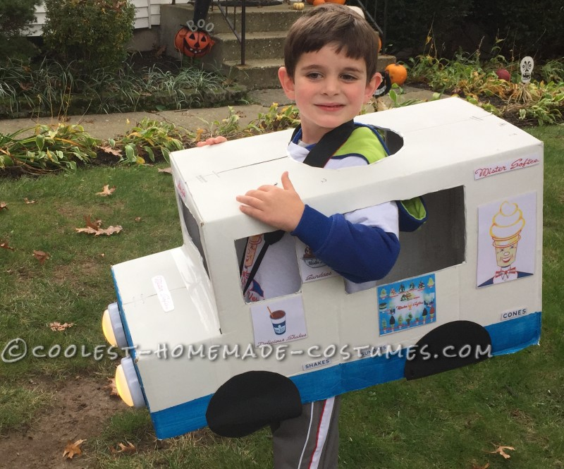 The Creamiest Dreamiest Soft Ice Cream Costume for a Boy